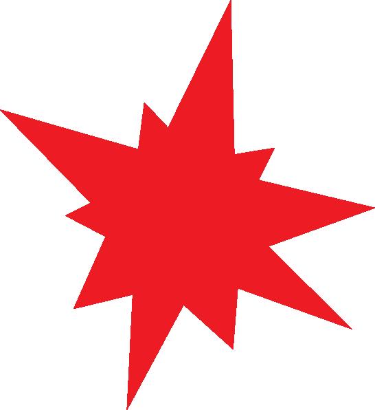 Star explosion clipart clipart transparent download Red Star Clip Art at Clker.com - vector clip art online, royalty ... clipart transparent download