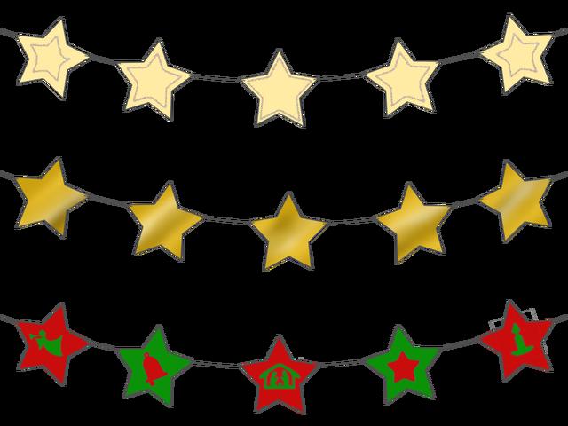 Star garland clipart png free Star Garland – Magic Activities png free