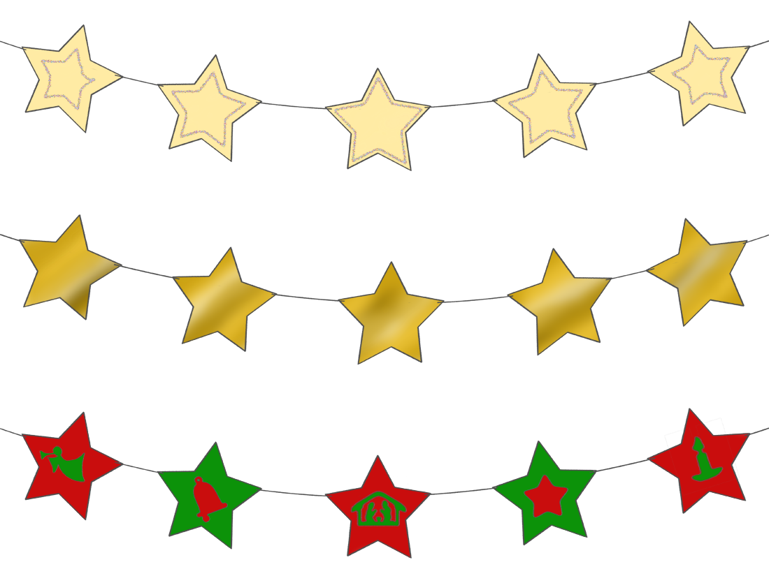 Star garland clipart graphic transparent library Star Garland – Magic Activities graphic transparent library