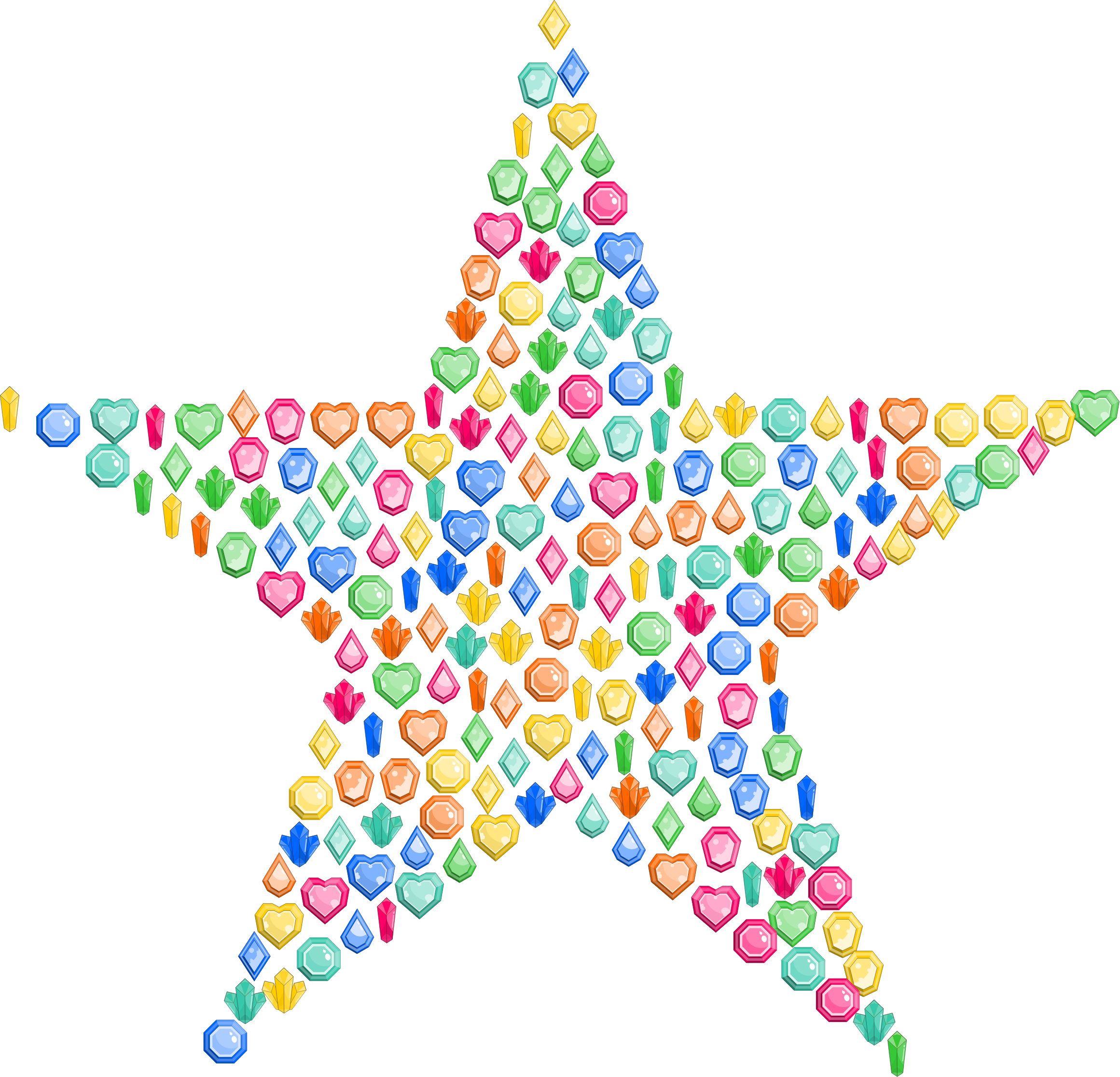 Star gem clipart black and white stock Clipart - Colorful Gems Star black and white stock