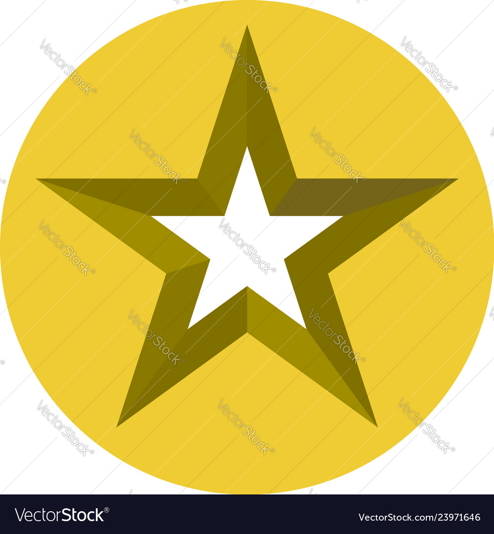 Star icon clipart clip art free library Star cut in circle 3d star icon star- clipart clip art free library
