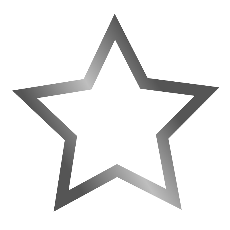 Star icon clipart picture library library Free Clipart: Outlined star icon | jhnri4 picture library library