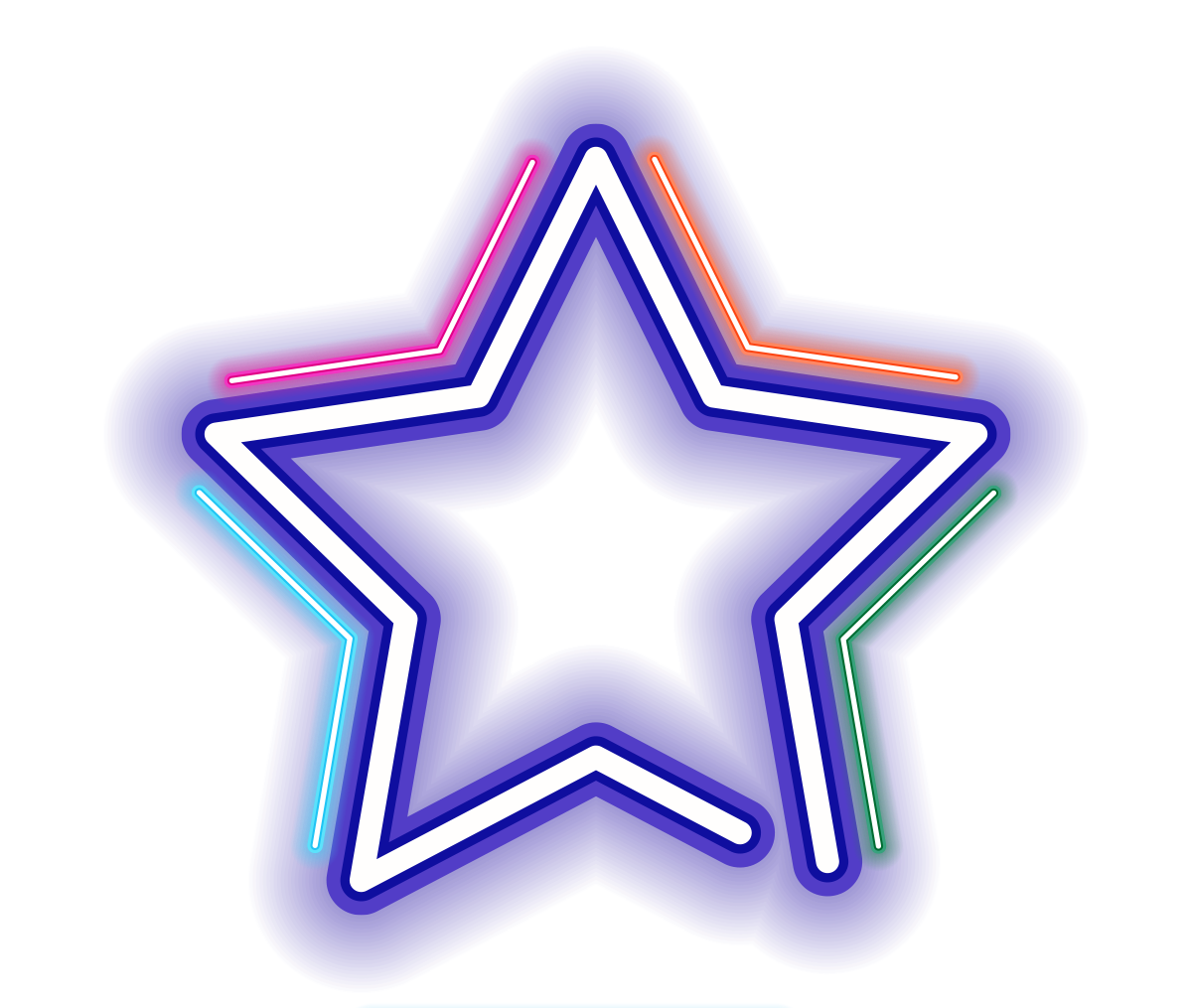 Star light clipart clip black and white download neon star colorful Starlight Luminous Lens... clip black and white download