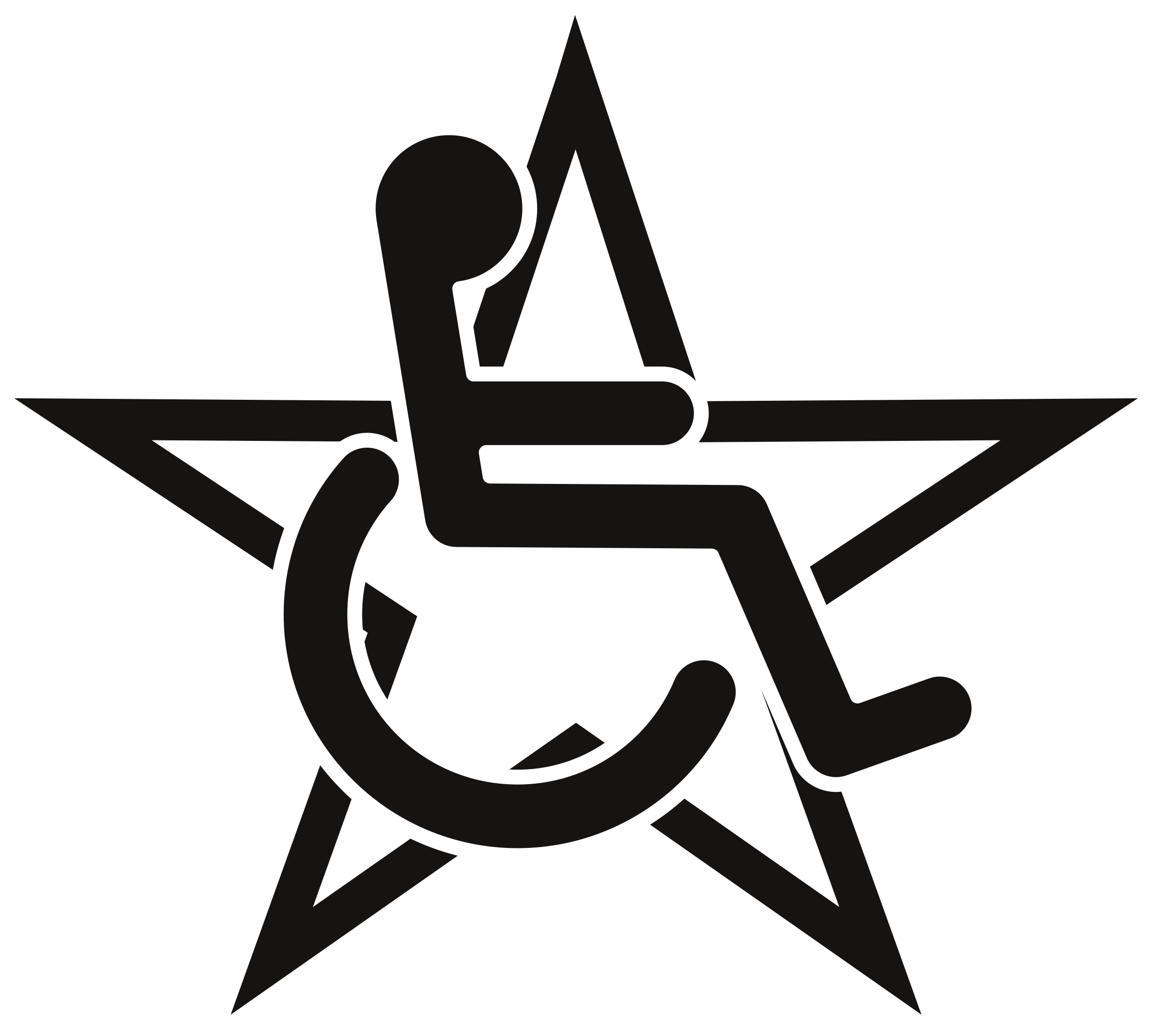 Star logo clipart svg royalty free library Clipart - Wheelchair in a Star svg royalty free library