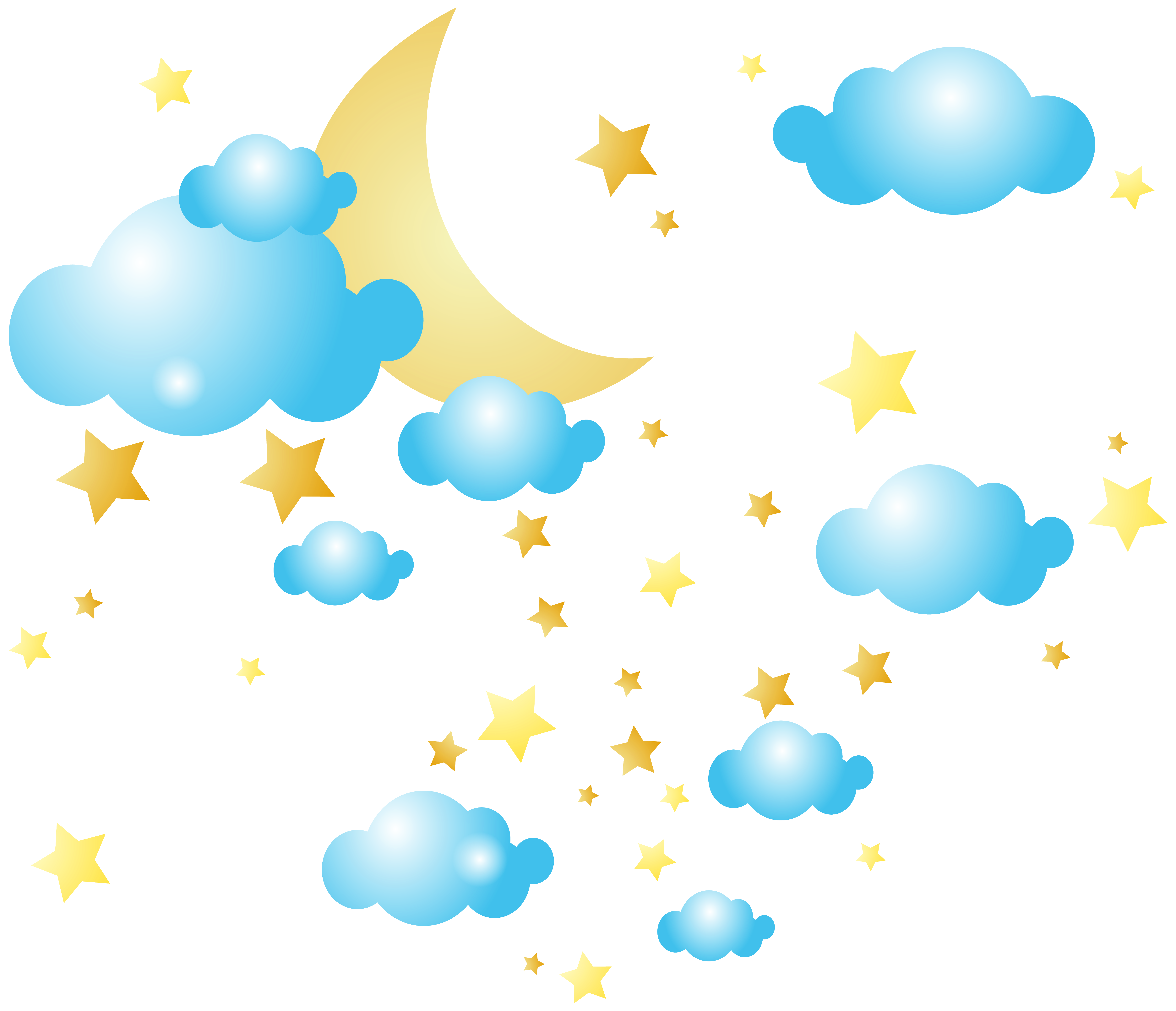 Star moon clipart image freeuse download Cloud Star Moon Clip art - Moon Clouds and Stars PNG Clip-Art Image ... image freeuse download