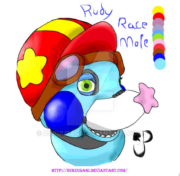 Star nosed mole clipart graphic black and white stock Rudy Race Mole: Fnaf OC for kicks and giggles by DukuUsagi on DeviantArt graphic black and white stock