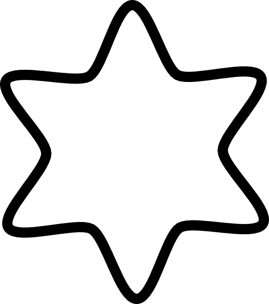 Star of david clipart black and white clip royalty free library David Star White Clip Art at Clker.com - vector clip art online ... clip royalty free library
