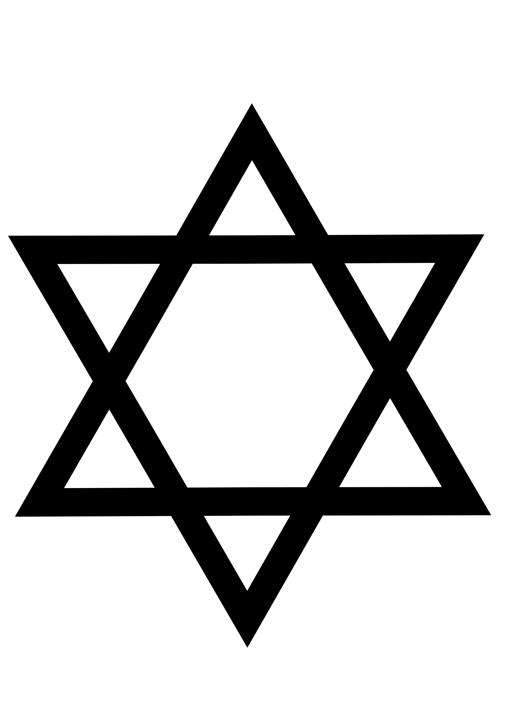 Star of david black and white clipart clipart library download Clipart - Estrella de David clipart library download