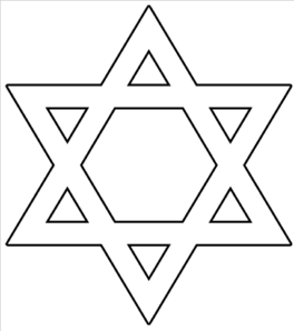 Star of david clipart free black and white image black and white library Star Of David Outline Clip Art at Clker.com - vector clip ... image black and white library