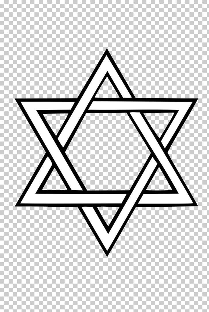 Star of david clipart free black and white