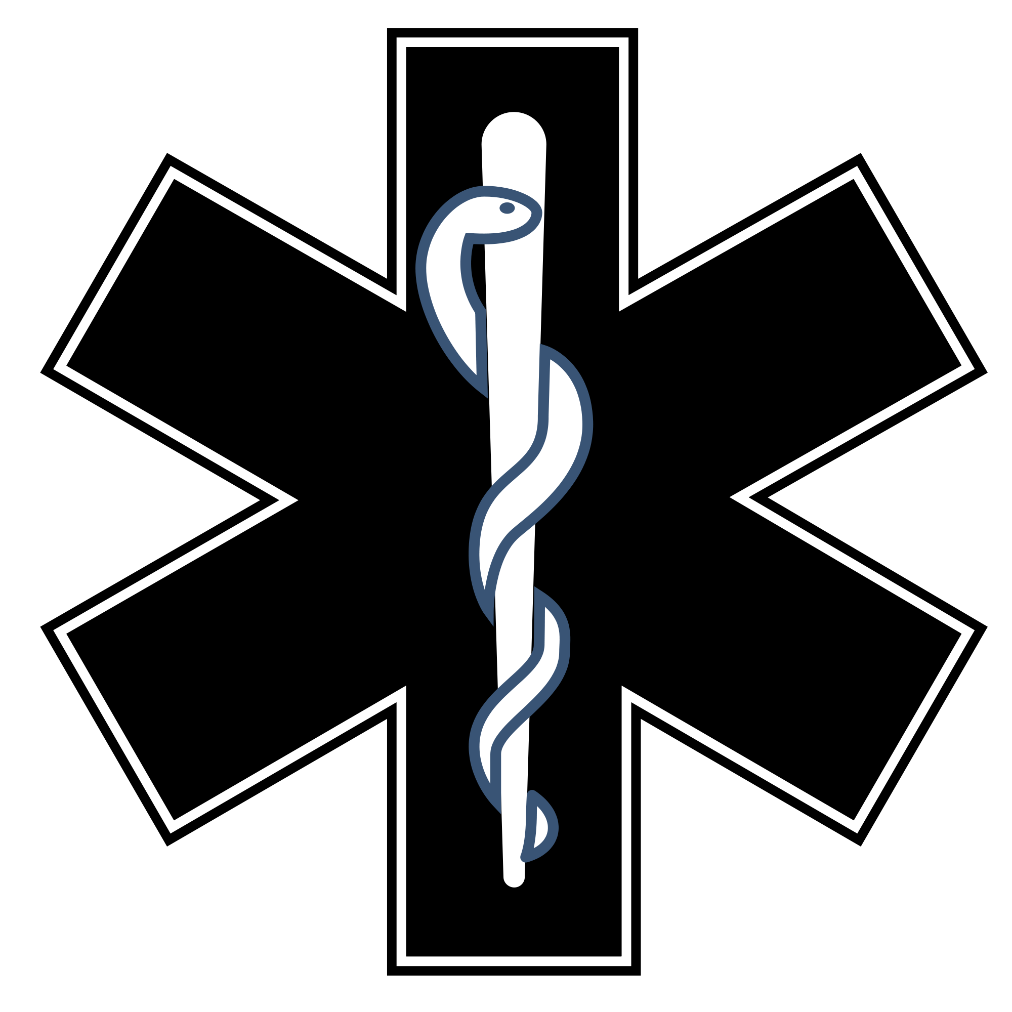 Star of life black and white clipart graphic free File:Gatunek leczniczy black and white.svg - Wikimedia Commons graphic free