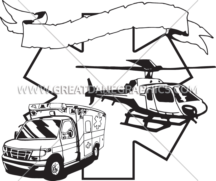 Star of life black and white clipart svg library stock EMS Star Of LIfe | Production Ready Artwork for T-Shirt Printing svg library stock