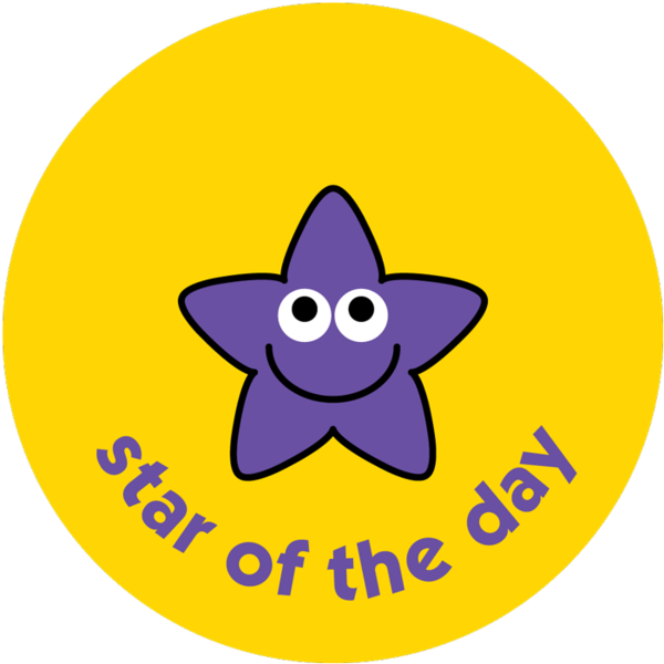 Star of the week clipart clip art free library Star - Star of the day - pack of 75 38mm reward stickers clip art free library