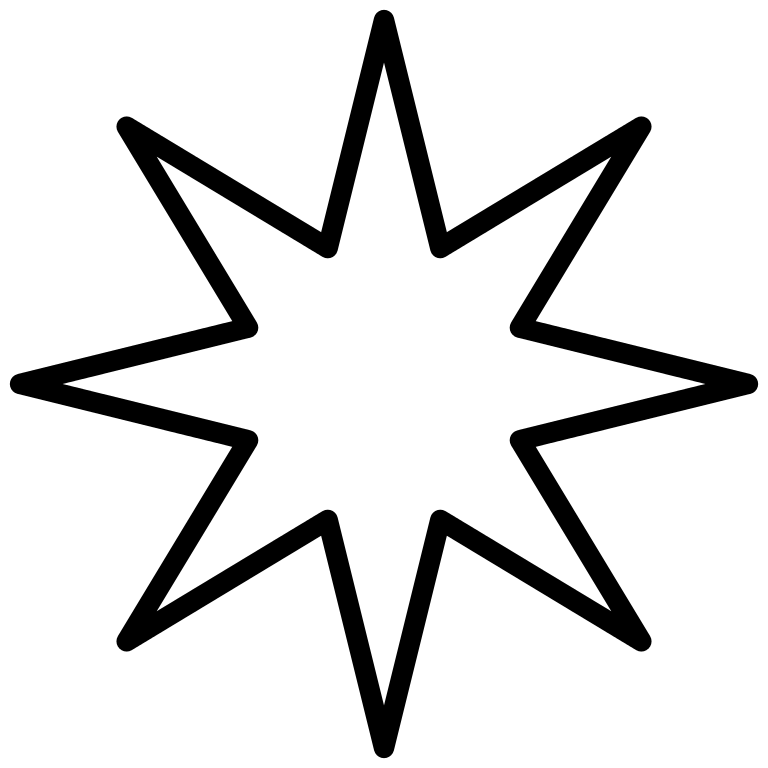 Star outline clipart black and white graphic stock File:8-Point-Star black void2.svg - Wikimedia Commons graphic stock