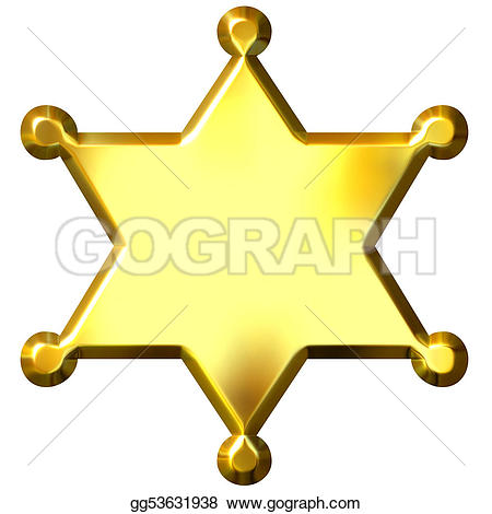 Star police badge clipart svg free stock Police Badge Stock Illustrations - Royalty Free - GoGraph svg free stock
