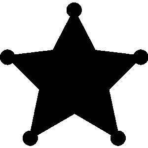 Star police badge clipart