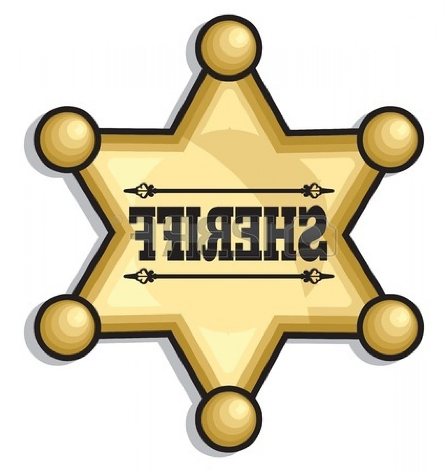 Star police badge clipart clipart free library Free Sheriff Star Badge Clipart Graphic   VectoRealy clipart free library