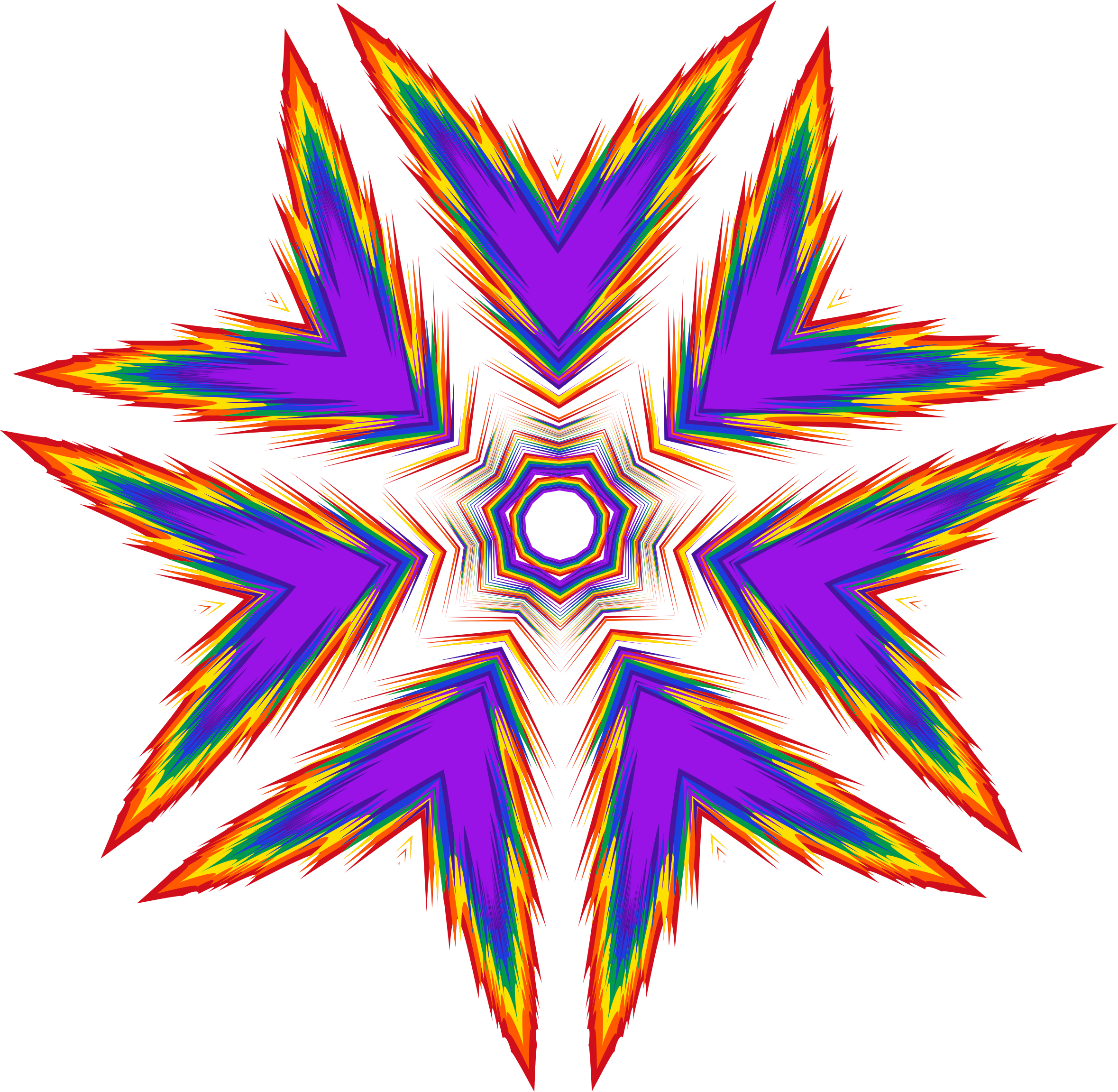 Star power clipart jpg royalty free download Clipart - Sharp Rainbow Star jpg royalty free download