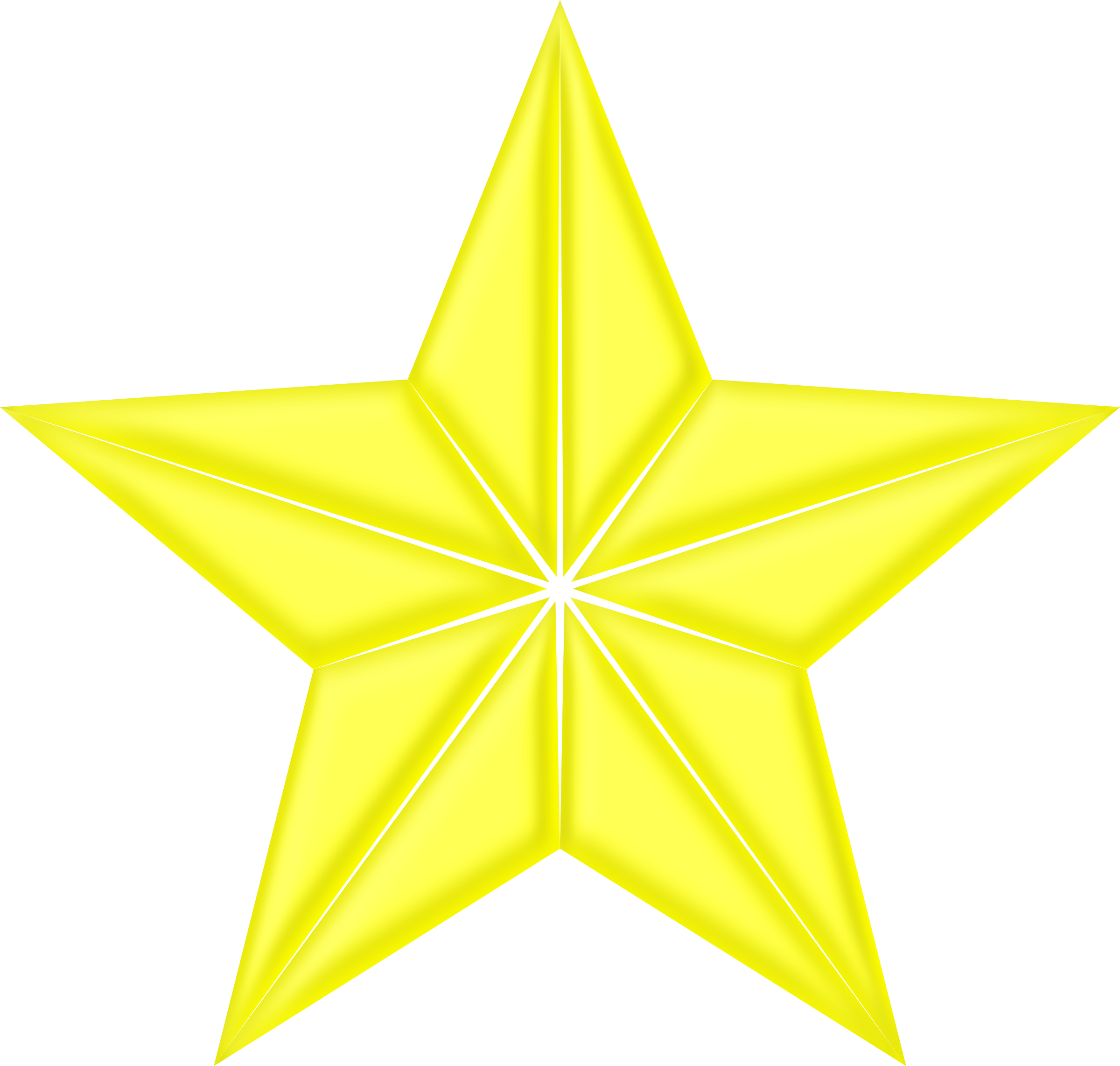 Star power clipart clipart royalty free stock Clipart - 3D segmented yellow star clipart royalty free stock