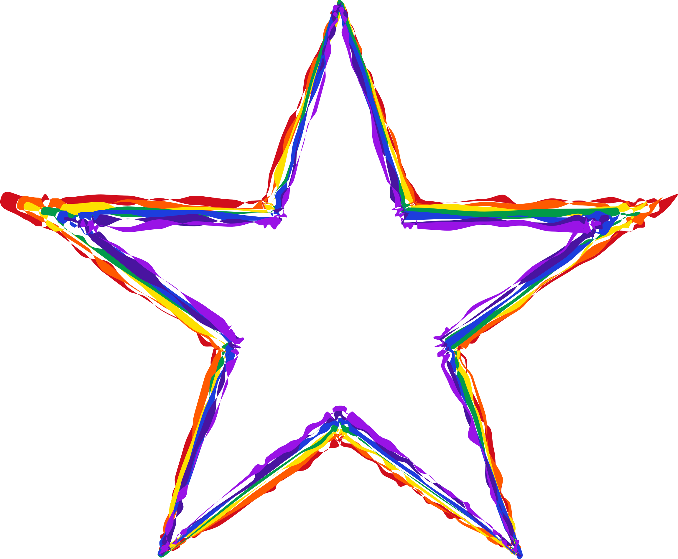 Star rainbow clipart clipart library stock Clipart - Painted Rainbow Star clipart library stock