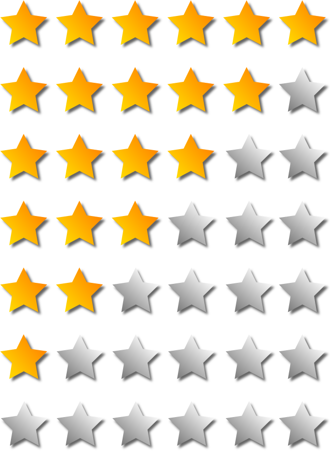 Star rating clipart clip art freeuse library Clipart: 6 Star Rating system – The World of Tim clip art freeuse library