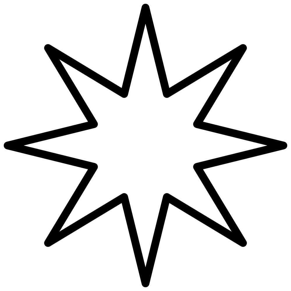 Star shape clipart banner free download File:8-Point-Star black void2.svg - Wikimedia Commons banner free download