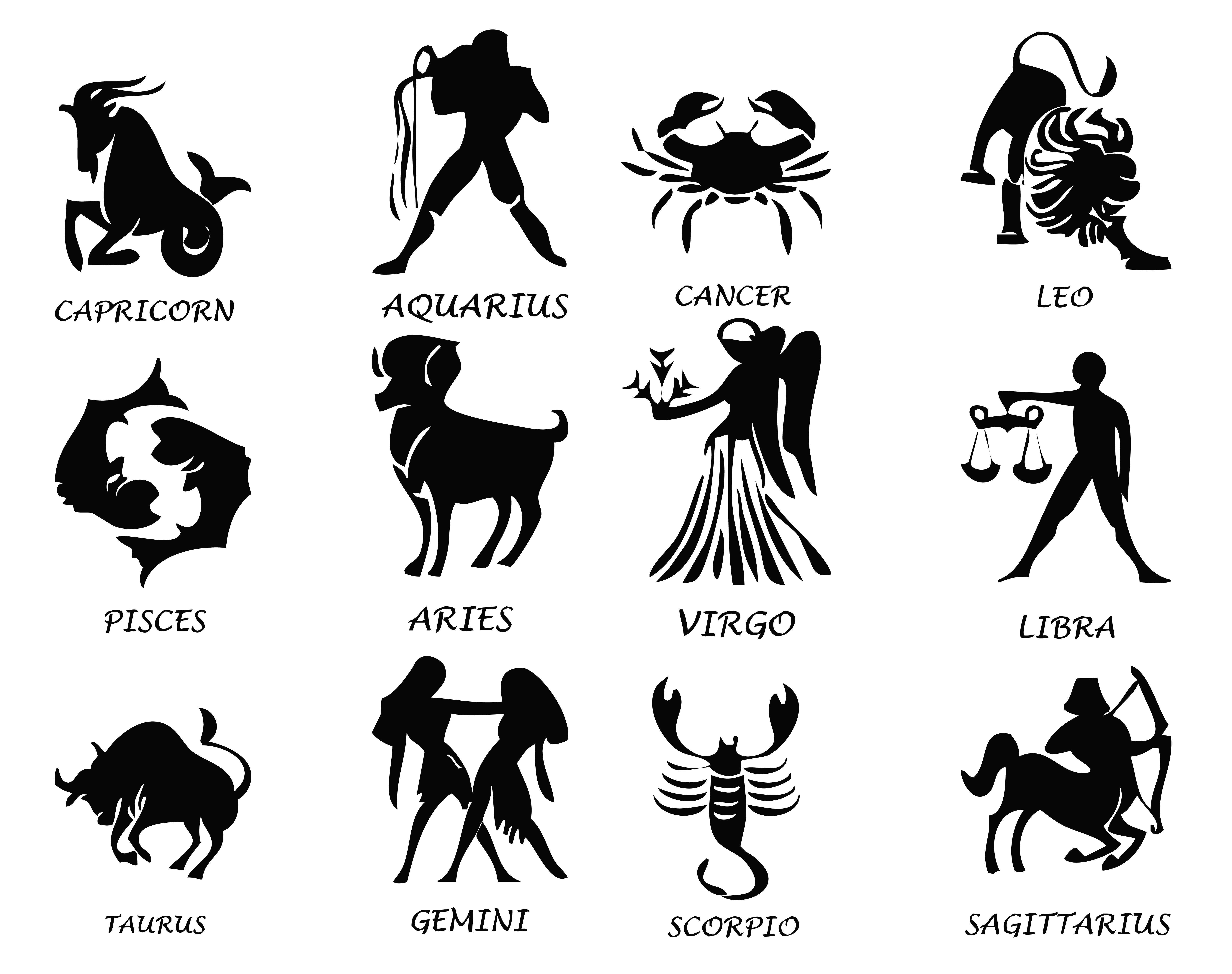 Star sign clipart graphic freeuse download Transparent Zodiac Signs Set PNG Image | Gallery Yopriceville ... graphic freeuse download