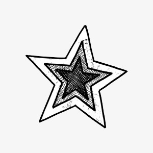 Star sketch clipart graphic black and white Star Sketch Images at PaintingValley.com | Explore ... graphic black and white