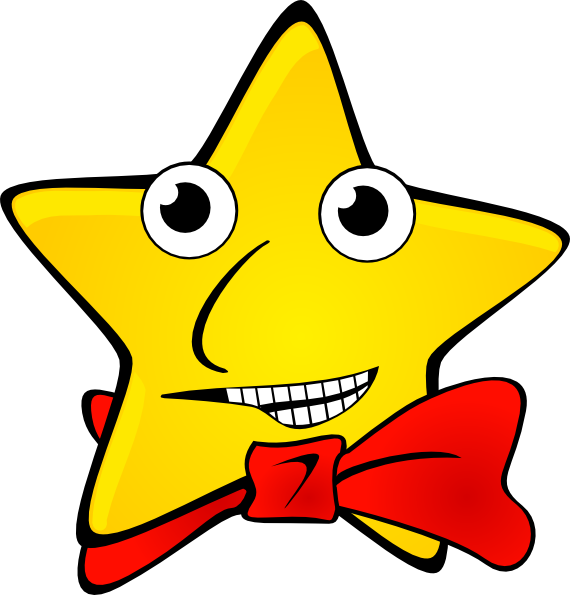 Star with smile clipart black and white download Funny Star Clip Art at Clker.com - vector clip art online, royalty ... black and white download