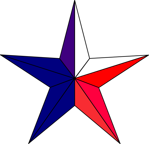 Texas star clipart graphic library download Redwhitebluestar Clip Art at Clker.com - vector clip art online ... graphic library download