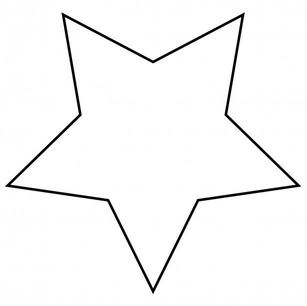 Star template clipart black and white library Also: fatter star. _ Star Clip Art | Illustrations ... black and white library