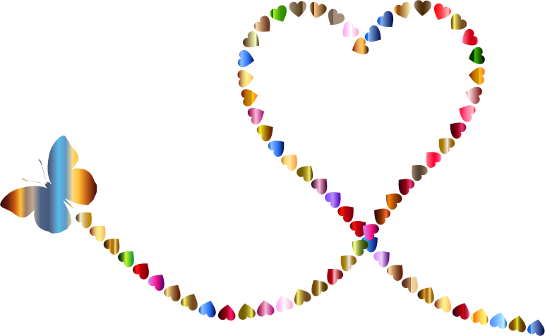 Star trail clipart picture library download Clipart - Butterfly Hearts Trail 3 picture library download