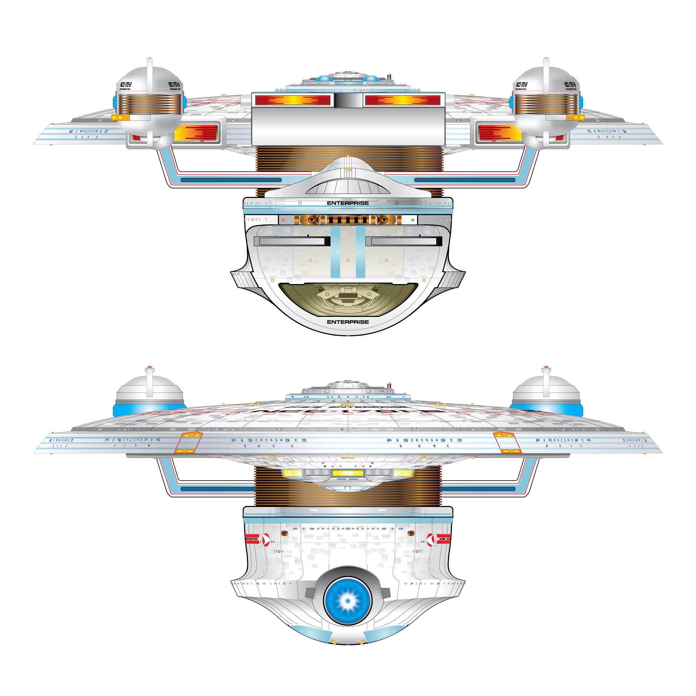 Star trek clipart excelsior banner royalty free library Star Trek Blueprints: Good Stuff 2 Star Trek Schematics banner royalty free library