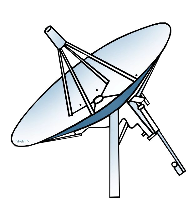 Star trek enterprise clipart picture library Outer Space Clip Art by Phillip Martin, Satellite Dish picture library