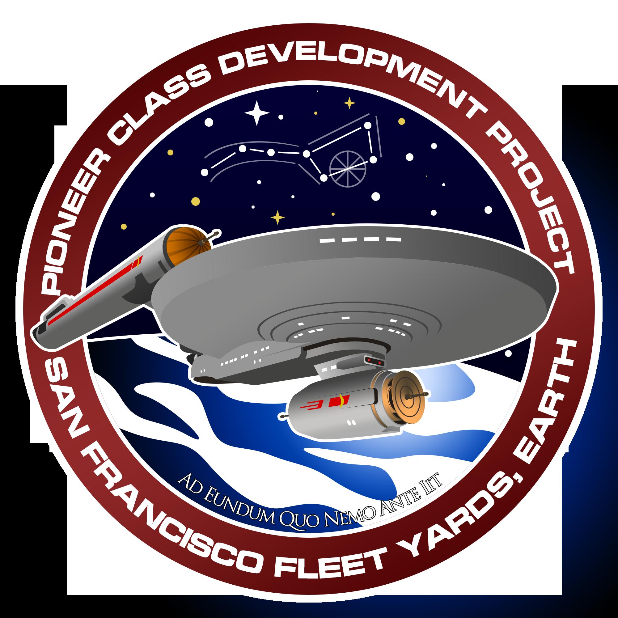 Starship star trek clipart clip art royalty free stock Made a Pioneer class development project patch : sto clip art royalty free stock