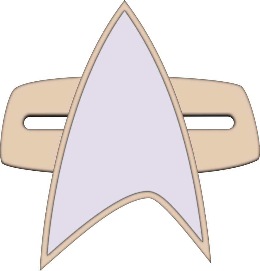 Star trek voyager clipart image black and white Combadge (2370s) by CenCerberon on DeviantArt image black and white