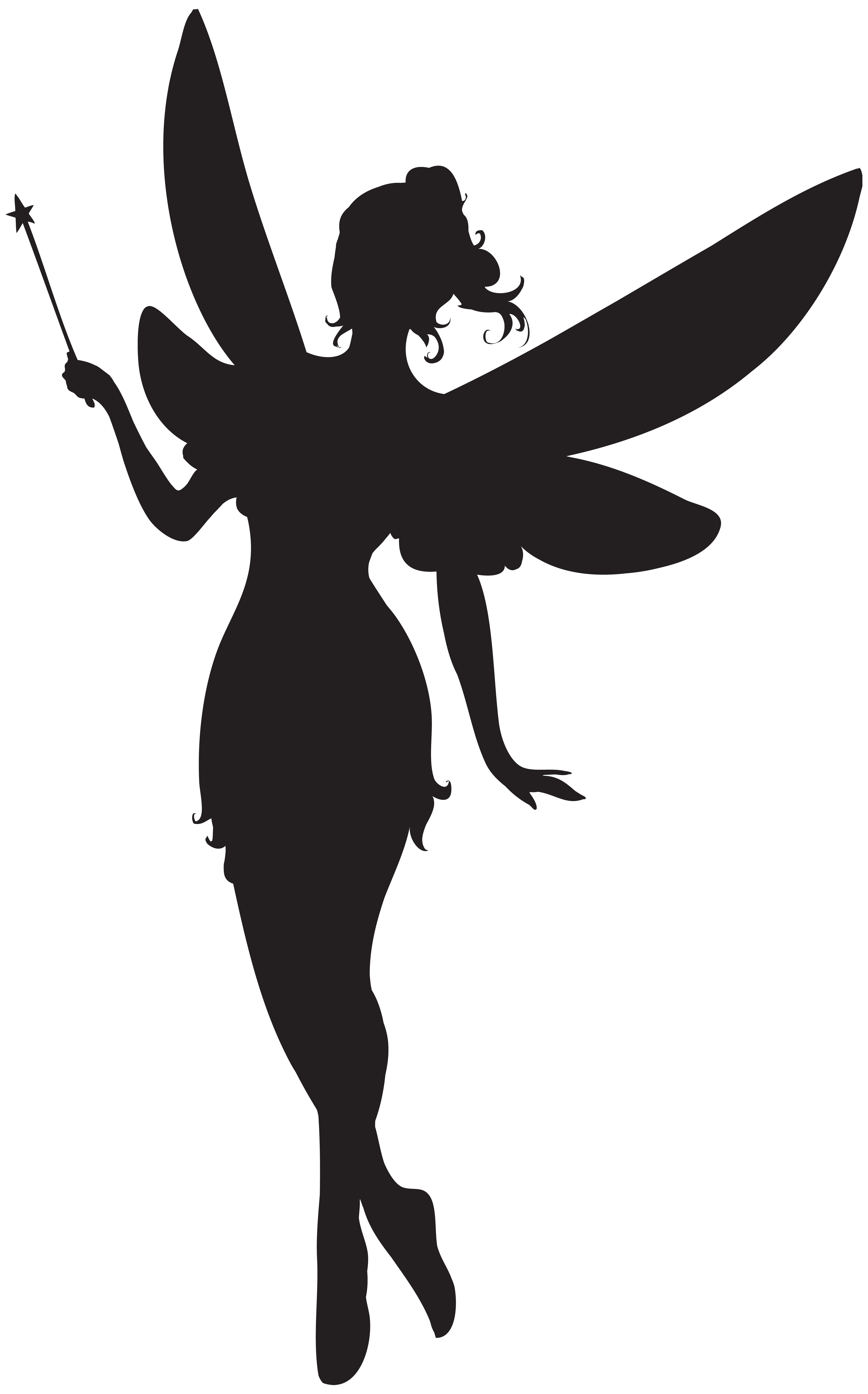 Star wand with ribbon clipart clip art Fairy with Magic Wand Silhouette PNG Clip Art | Gallery ... clip art