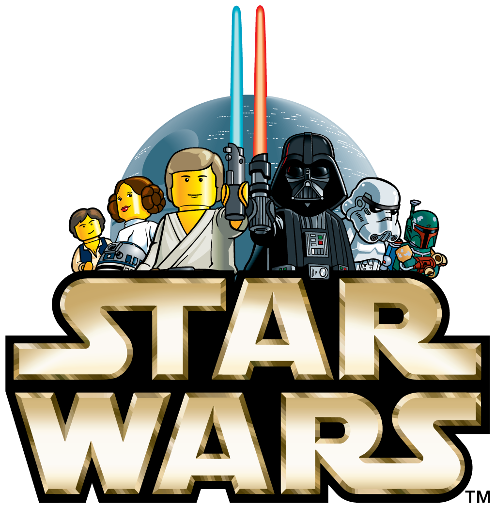 Star wars blue lightsaber clipart vector royalty free stock The Original Lego Star Wars logo, used in 1999. : legostarwars vector royalty free stock