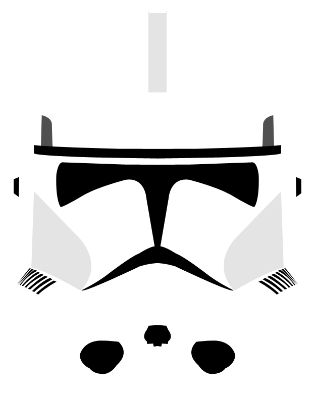 Star wars helmet clipart graphic Image - Phase II Clone Trooper Helmet by PD Black Dragon.png | Star ... graphic