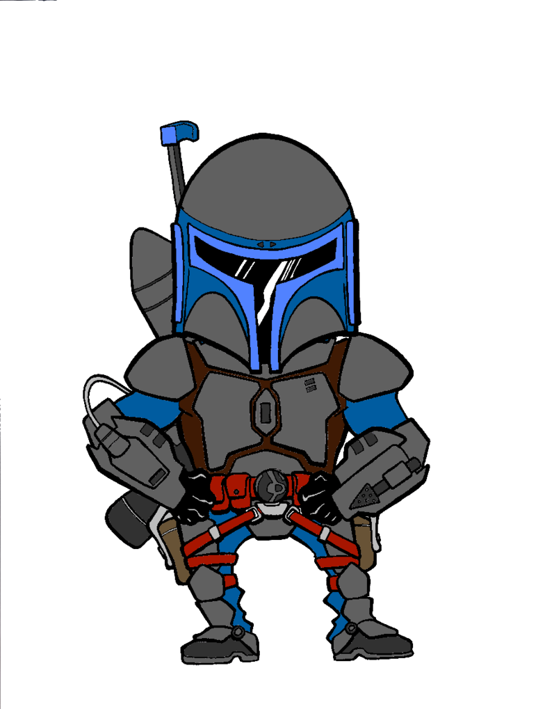 Star wars clipart boba fett jpg royalty free library Chibi Jango Fett by ecanerdygirl on DeviantArt jpg royalty free library