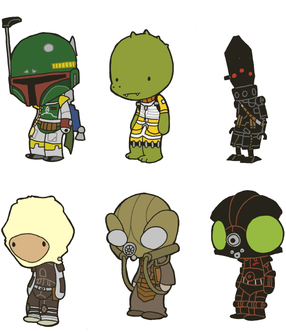 Star wars bounty hunter helmet clipart graphic royalty free download Lil' Bounty Hunters by toadcroaker on DeviantArt | Chibi | Pinterest ... graphic royalty free download