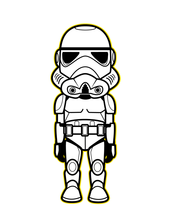 Star wars rey clipart black and white black and white library Star Wars Kawaii Saga | Pinterest | Saga, Kawaii and Star black and white library