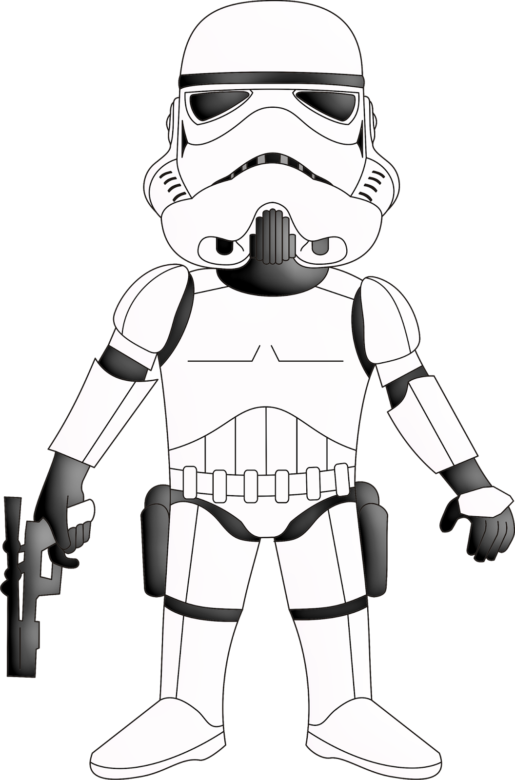 Star wars clipart for coloring clip art freeuse library Star Wars Scrapbook Free Printable Kit. - Oh My Fiesta! for Geeks clip art freeuse library