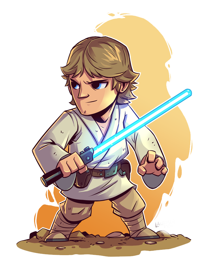 Star wars luke clipart picture free stock Anakin Skywalker Luke Skywalker Star Wars IG-88 Bossk - Cartoon ... picture free stock