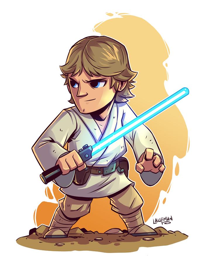 Star wars clipart luke picture transparent download Anakin Skywalker Luke Skywalker Star Wars IG-88 Bossk - Cartoon ... picture transparent download