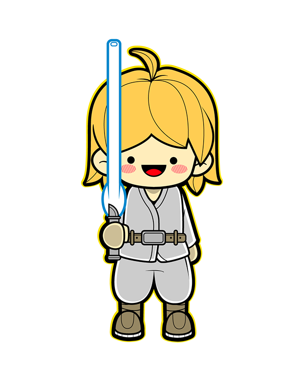Star wars clipart luke black and white library I really love Star Wars XD movies, games and anything! and this is ... black and white library