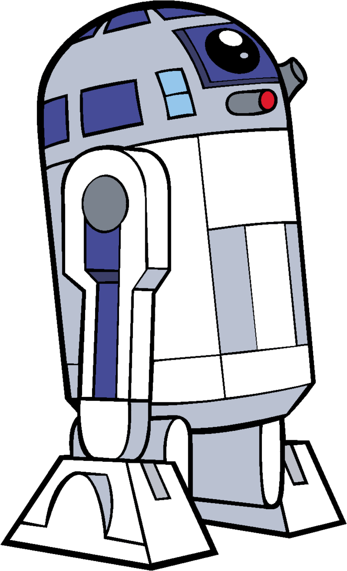Star wars clipart r2d2 clip art black and white library r2d2 cartoon images | Animaxwallpaper.com clip art black and white library