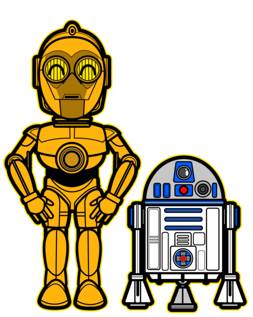 Star wars happy birthday clipart svg royalty free stock Kawaii C3-PO and R2-D2 | A Long Time Ago In A Galaxy Far Away ... svg royalty free stock