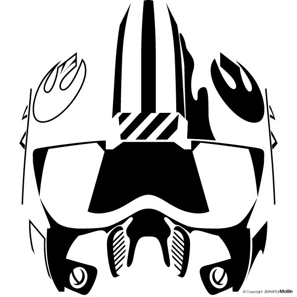 Star wars rebel clipart graphic black and white stock Rebel Vector by JeremyMallin on DeviantArt graphic black and white stock