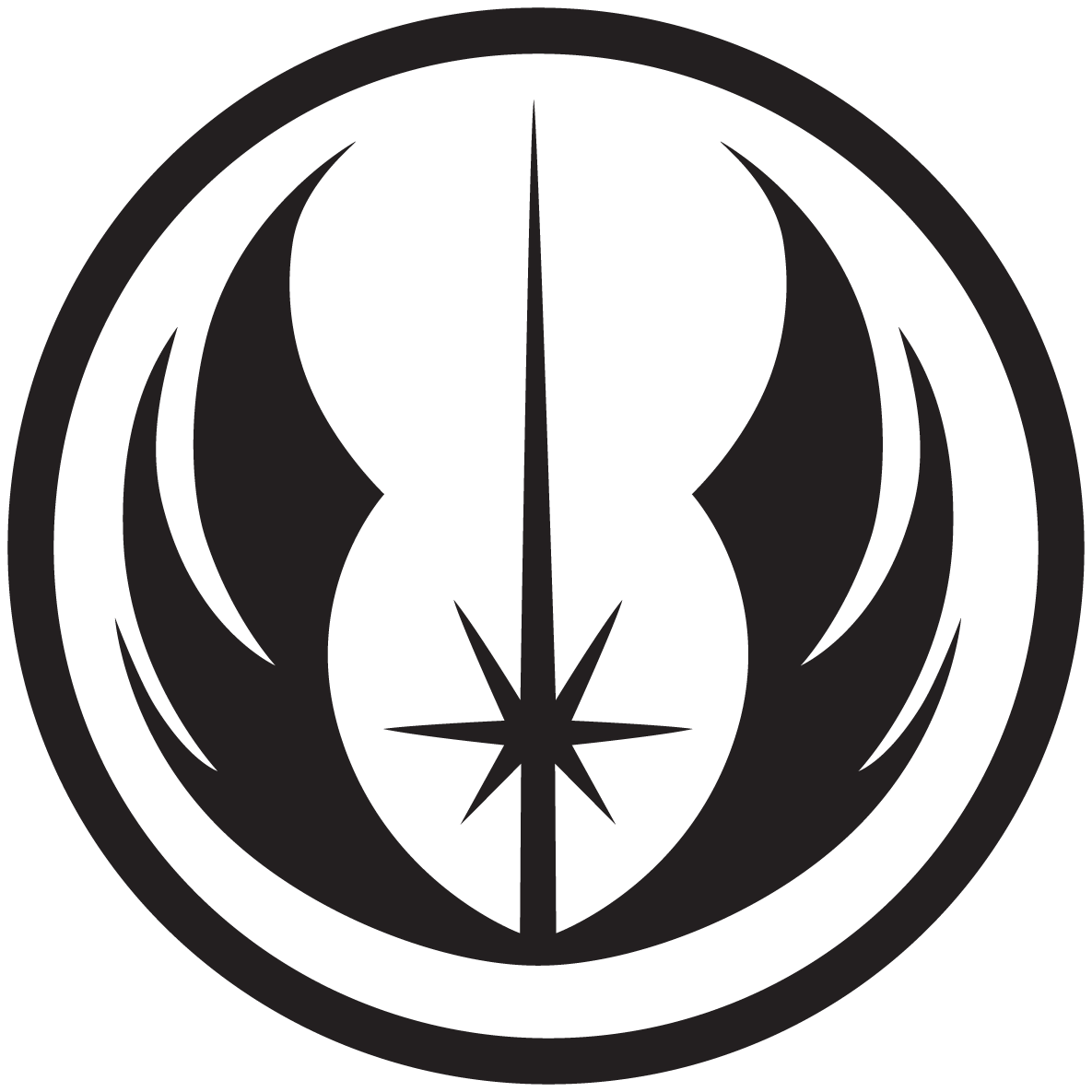 Star wars rebel symbol clipart vector download New Jedi Order by ChupaCabraThing.deviantart.com on @DeviantArt ... vector download